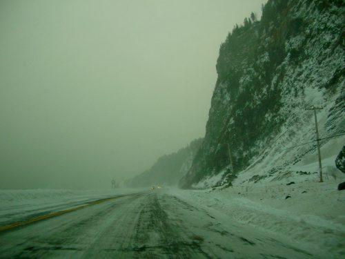« Pis, comment sont les routes? », 23 décembre 2008, photo: Marie Boucher