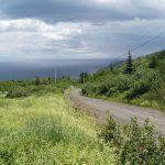 Sur les côtes, « au sommet du monde » J. Ferron, juillet 2005, photo: B.Boucher