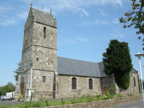 Église de Les Biards en Normandie, village d'où est parti le grand-père de René dit Irénée Pelchat au milieu du 18e siècle, photo : B. Boucher, date : 17 août 2016