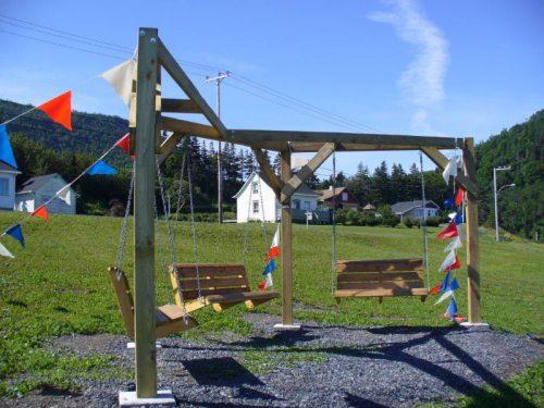 un parc à la disposition des randonneurs et des touristes, juillet 2016, photo : Blandine Mercier