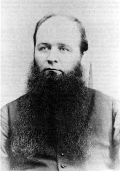 Abbé David Roussel (1835-1898) premier missionnaire résident de Mont-Louis à desservir Manche-d'Épée de 1867 à 1870, il s'est dévoué pour la cause des naufragés du Woodstock et du Swordfish, date non précisée, source : UQAC