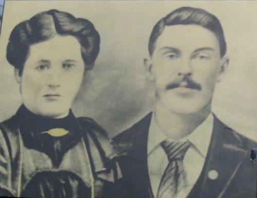 Marie Bernatchez (1884-1970) et Euloge Pelchat (1879-1959) lors de leur mariage, date : 1901, coll. : Mariette Guillemette.