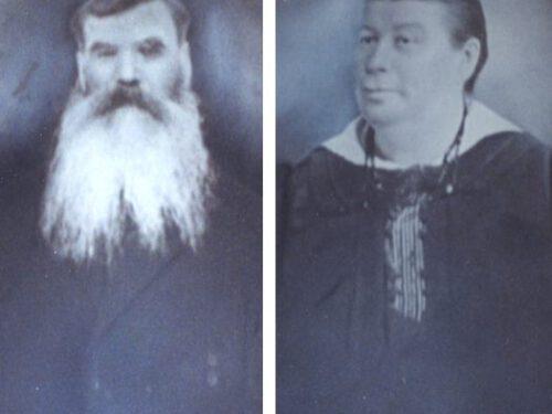 Joseph-Octave Fournier (1845-1930) et sa seconde épouse Mary Chenel (1863-1926), mariés en 1885, photo date : inconnue; coll. : Mario Lévesque