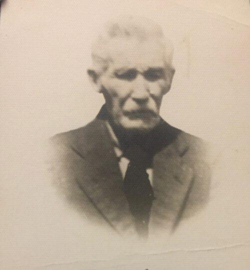 Eugène Fournier (1851-1944), photo extraite de sa carte funéraire, date : vers 1944; coll. : Maryse Fournier