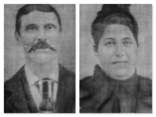 Eugène Boucher (1845-1914) et Malvina Fournier (1850-1934), date non précisée, fond Huguette Boucher, coll. : Guy Boucher