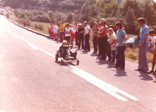 La course de boîtes à savon, photo date : août 1973, coll. : Mariette Fournier