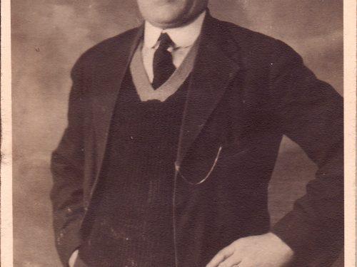 Michel Boucher (1877-1968), celui que l'on considère comme le premier commerçant du village, date non précisée, coll. : Blandine Mercier et Ernest Boucher.