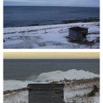 Le chafaud à monsieur Mathias, date : (en haut), janvier 2016; (en bas), février 2009, photos : Blandine Mercier