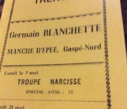 Page couverture du programme du Théâtre Blanchette du 29 mars au 1er juillet 1956, coll. : Françoise Bond