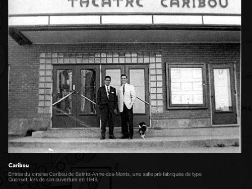 Théâtre Caribou de Sainte-Anne-des-Monts, date : 1949, source : capture d'écran du site Le cinéma au temps du parlant