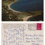 Carte postale adressée de Trégunc en Bretagne à « M. & Mme Joachim Fournier » le 10 août 1976 par Jacqueline Goyens, coll. : famille Fournier