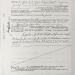 Lettres patentes de cession des droits du lot 20 de René Pelchat à ses représentants légaux le 14 octobre 1938. Source : registre des lettres patentes foncières du ministère de la Justice.