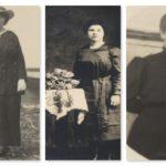 Adélaïde, Azilda (1887-1958) et Clara (1891-1942) Fournier, filles de Joseph-Octave et Mary, photo date : inconnue; coll. : Mario Lévesque