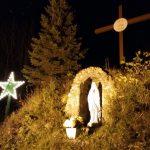 Le site de la croix décoré de l'étoile pour les Fêtes, date : novembre 2016, photo : Blandine Mercier.