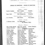 Liste des membres du bureau de direction de l'Association des hôteliers de la Gaspésie parue dans le guide de l'association, vers 1950.