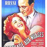 Affiche du film Sérénade aux nuages (1946) d'André Cayatte projeté les 18 et 19 avril 1956 au Théâtre Blanchette