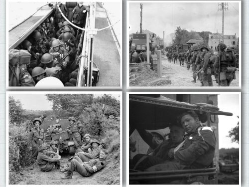 Scènes de la bataille de Normandie, date : juin 1944, source : Bibliothèque et Archives Canada
