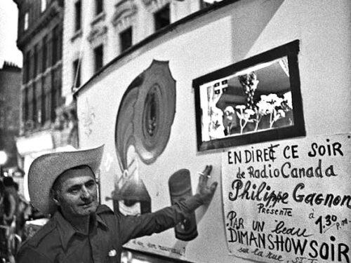 Philippe Gagnon et sa Garouine, photo site : La Freniere & poésie, les mots de la vie