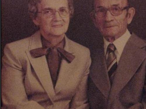 Jeanne dite Jeannette Boucher (1915-1984) et Édouard Blanchette (1904-1991), date non précisée, coll. : Mario Lévesque
