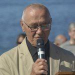 Paul-Roger (Paulo) prend la parole à Manche-d'Épée, date : 1er juillet 2018, photo : Jacques-Noël Minville, Journal Le Phare
