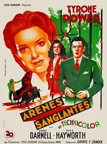 Affiche du film Arènes sanglantes (1941) de Rouben Mamoulian projeté les 19 et 20 mai 1956 au Théâtre Blanchette