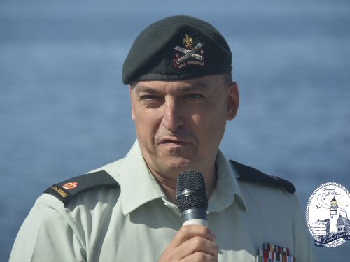 Major François Provost, commandant du Régiment de la Chaudière, date : 1er juillet 2018, photo : Jacques-Noël Minville, Journal Le Phare