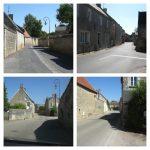 Vues des environs de l'église de Rots et des murets de pierre comme en 1944, date : 16 juin 2016, photos : B. Boucher