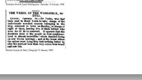 Shields Gazette & Daily Telegraphe, 31 janvier 1868, source : British Newspaper Archive, collaboration Dave Wendes