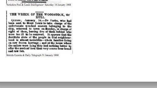 Shields Gazette & Daily Telegraphe, 31 janvier 1868, source : British Newspaper Archive, collaboration Dave Wendes