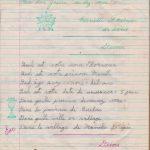 Des récompenses sous forme de tampons remises à Mariette Fournier par Lauraine Bernier, date : 1962-63, coll. : Marie Fournier