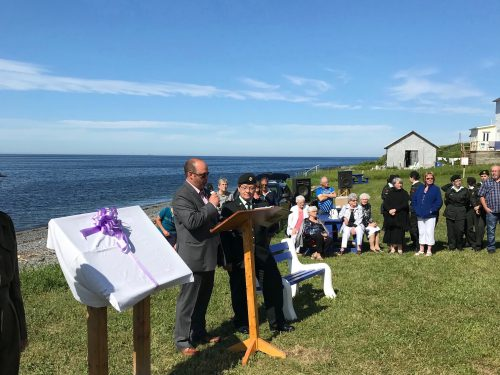 Déroulement de la cérémonie, date : 1er juillet 2018, photo : Paul-Roger Boucher