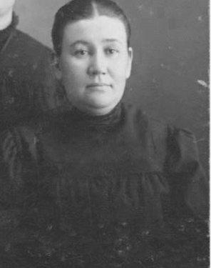 Mary Chenel, première maîtresse d'école, date : vers 1884, coll. : Mario Lévesque