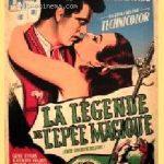 Affiche du film La légende de l'épée magique (1953) de Nathan Juran projeté les 7 et 8 avril 1956 au Théâtre Blanchette sous le titre La légende de Damas.