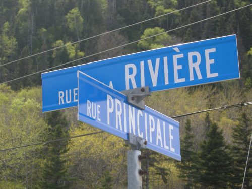 Rue de la Rivière et rue Principale, date : mai 2016, photo : B. Boucher
