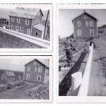 Déménagement de la maison d'Israël Fournier, photos date : 1956; coll. : Pierre-Paul Fournier