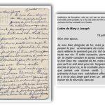 Carte de Mary Chenel adressée à son mari Joseph-Octave Fournier le 18 juillet 1917 et transcription de Mario Lévesque en 2010, coll. : Mario Lévesque