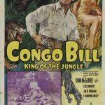 Affiche de la série en 15 épisodes Congo Bill (1948) projetée dans les années 1960 au Théâtre Blanchette