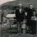 Arthur Boucher (1883-1954), Ginette, Alma (1875-1955) et Jocelyn, date non précisée, coll. : Jocelyn Boucher
