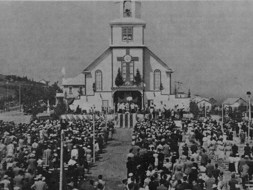 Congrès eucharistique de Madeleine, date : 1953, source : Notes historiques sur la paroisse de Madeleine.
