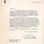 Lettre du 30 août 1945 portant sur l'inhumation des restes du soldat, dossier militaire de Paul Ouellette, source : www.ancestry.ca