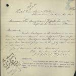 Lettre de l'Hôtel Dieu Saint-Vallier de Chicoutimi annonçant le décès d'André Castagne le 12 décembre 1902, source : Bibliothèque et archives Canada
