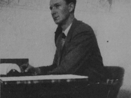 Joseph Lemieux, fondateur et gérant de la Coopérative d'électricité de Gaspé-Nord, date : vers 1957, source : Mont-Louis se raconte de Mariette B. Lemieux