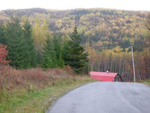Côte Croche, date : octobre 2009, photo : B. Boucher. Une vue du haut de la colline.