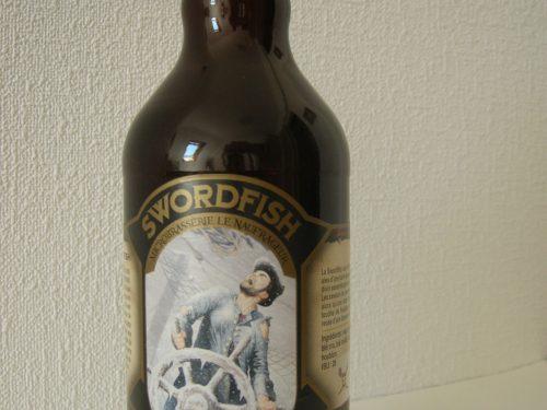 Bière Swordfish brassée par la microbrasserie Les Naufrageurs de Carleton-sur-Mer qui commémore le naufrage du voilier