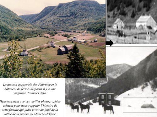 Montage réalisé par Mario Lévesque afin de localiser l'emplacement de la maison ancestrale construite par Joseph-Octave Fournier vers 1880 et démolie dans les années 1990.