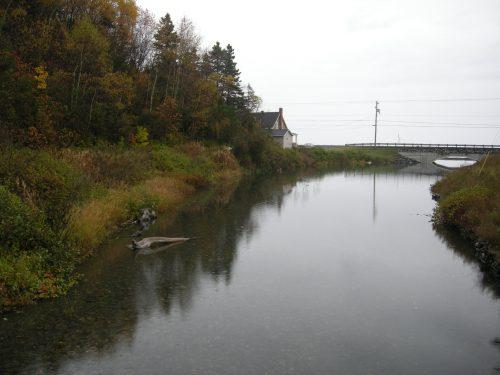Rivière de Manche-d'Épée, date : 9 octobre 2009, photo : B. Boucher