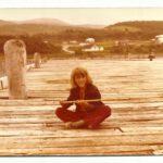 Carlo Côté sur le quai de Madeleine, photo date : été 1974, coll. : Marina Boucher