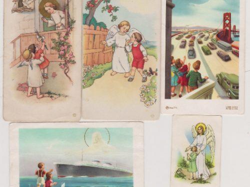 Recueil d'images reçues à la petite école, date : vers 1960, coll. : Marie Fournier