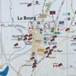 Panneau d'information touristique à St-Langis-lès-Mortagne avec en bas à droite la localisation de la maison de Marin, date : 2016, photo : Mathieu Boucher