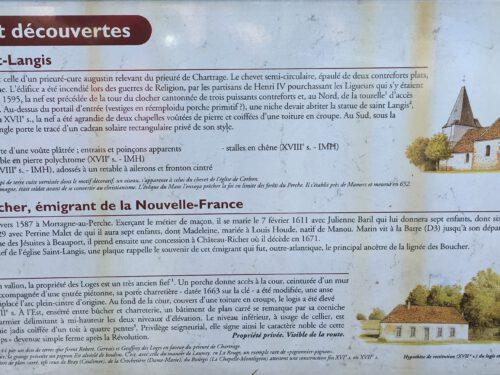Panneau d'information touristique à St-Langis-lès-Mortagne, date : 2016, photo : Mathieu Boucher